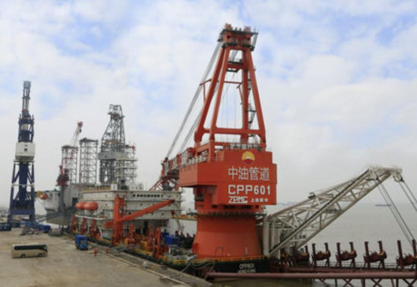 China: ZPMC Delivers Pipelay Vessel to CNPC