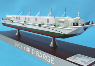 Becker Marine Awarded Building Contract for First LNG Hybrid Barge