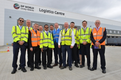 UK shipping minister attends DP World London Gateway Logistics Centre opening