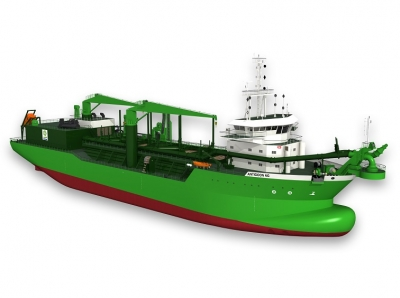 Wärtsilä engine orders for world's first LNG dual-fuel dredger