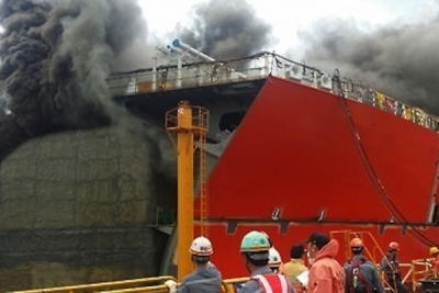 Fire at DSME yard leaves two dead, seven injured