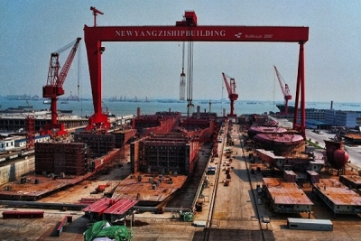 China to have 30 shipbuilders with no more than 60m dwt yard capacity: Yangzijiang
