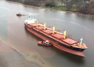 USCG Refloats Grounded Bulker