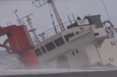 Russian general cargo ship runs aground and sinks off Japan