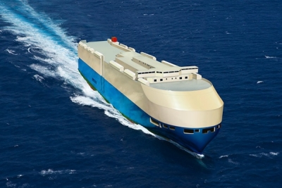 MOL's next-generation car carriers feature energy-saving rounded bow