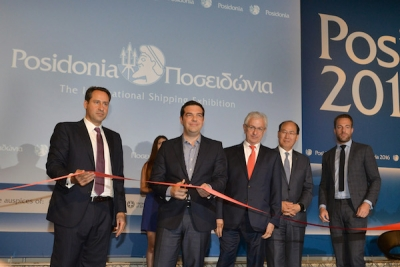 Greek PM Tsipras stresses contribution of shipping at Posidonia 2016 opening