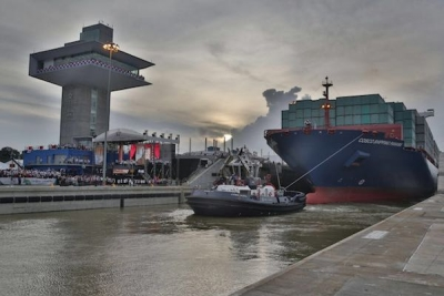 Panama President officially opens the expanded Panama Canal