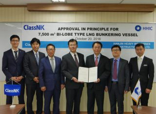 ClassNK Gives Nod to LNG Bunkering Vessel Design