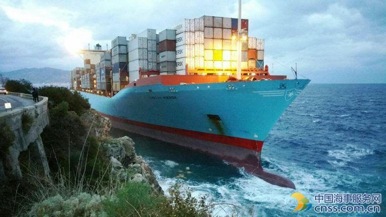 VIDEO: Gustav Maersk Refloated after Grounding off Italy