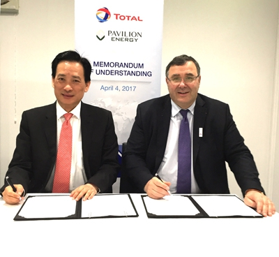 Total and Pavilion Energy Ink MOU on LNG Bunkering Cooperation