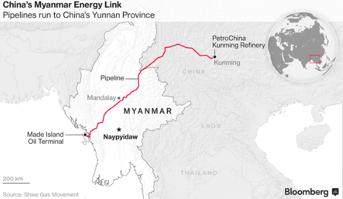 Tankers: China Opens Delayed Myanmar Oil Pipeline to Get Mideast Crude Faster