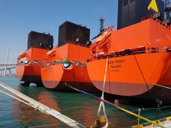 StealthGas: Hyundai triple naming ceremony of Ammonia/VCM Carriers