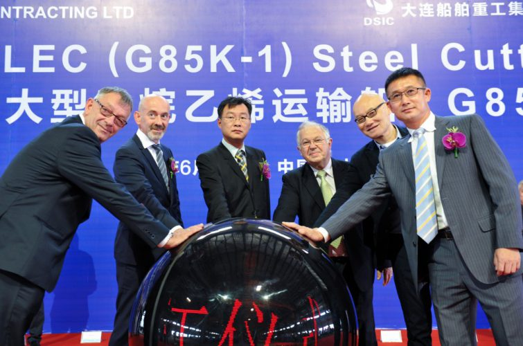Dalian Cuts Steel for JHW's New Ethane Carrier