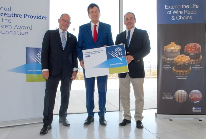 Lubrication Engineers SA (South Eastern Europe) supports Green Award certified oceangoing ships