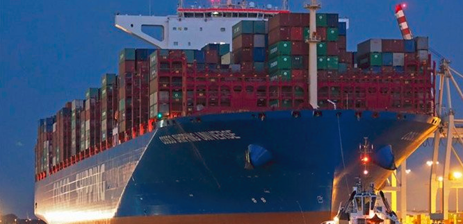 China's largest container ship back after maiden voyage