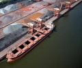 China's iron ore port stocks down to 120.3 mln t