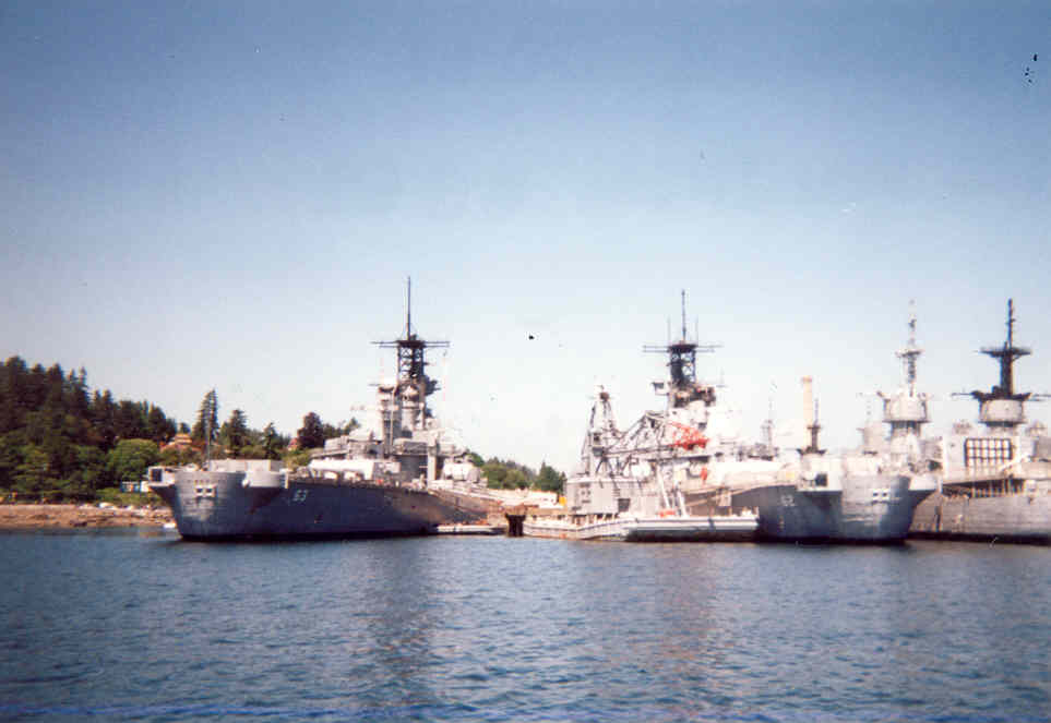 USS Missouri BB-63 and USS New Jersey BB-62